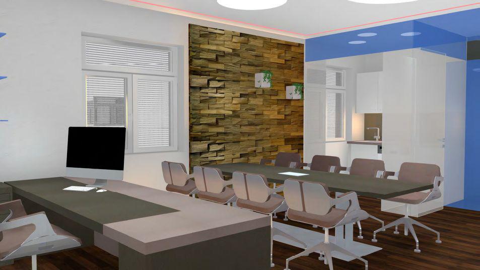Büro Branding 3D